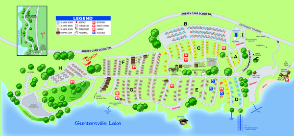 Lake guntersville site map